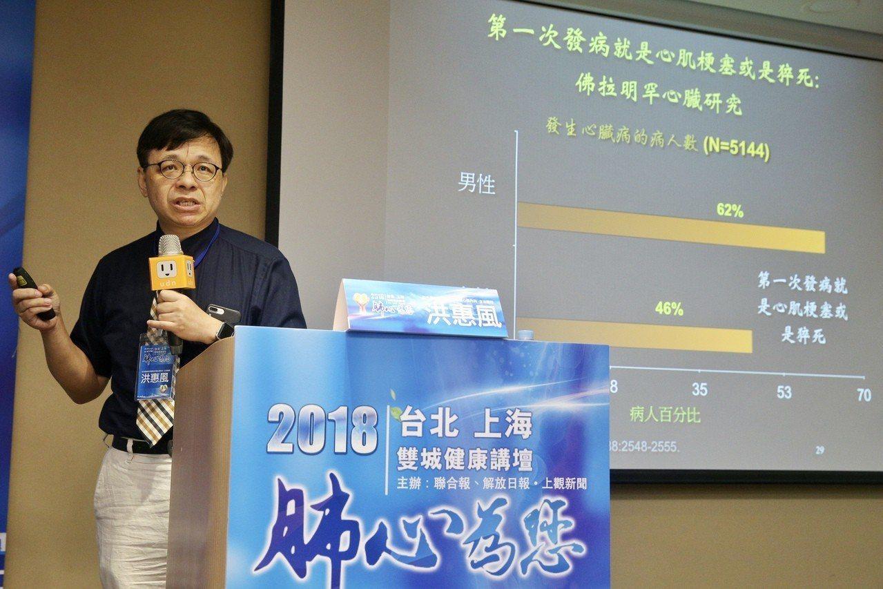 2018台北上海雙城健康講壇「肺心為您」在張榮發基金會舉行,新光醫院教研部副主任...