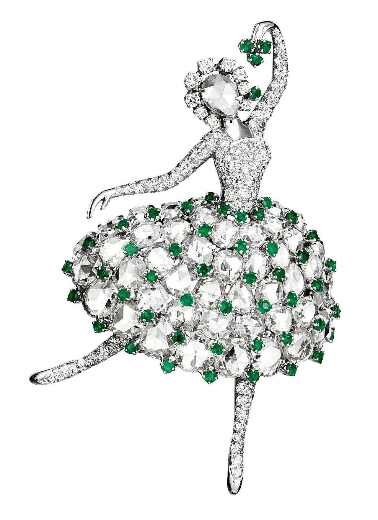 Ballerina胸針,Van Cleef & Arpels梵克雅寶典藏,194...