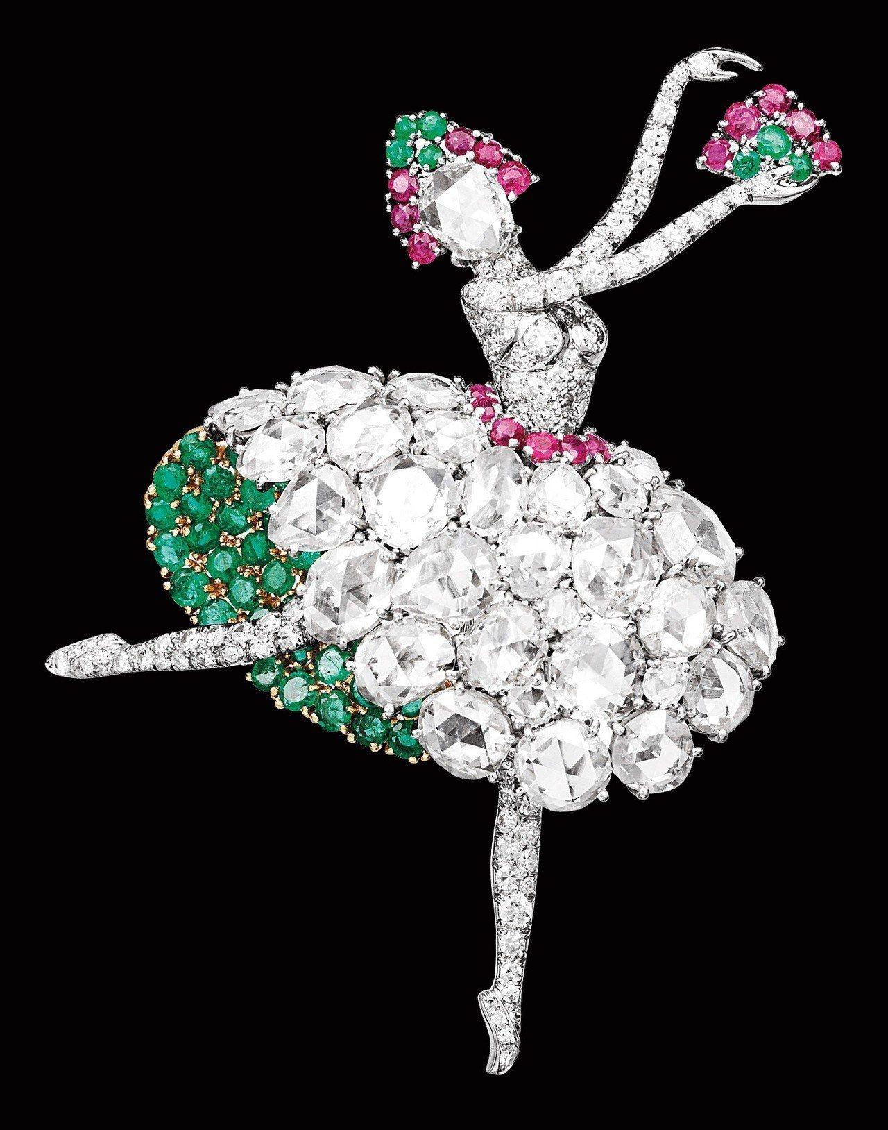 Danseuse Espagnole胸針,1941年,是梵克雅寶最早期的芭蕾舞伶...