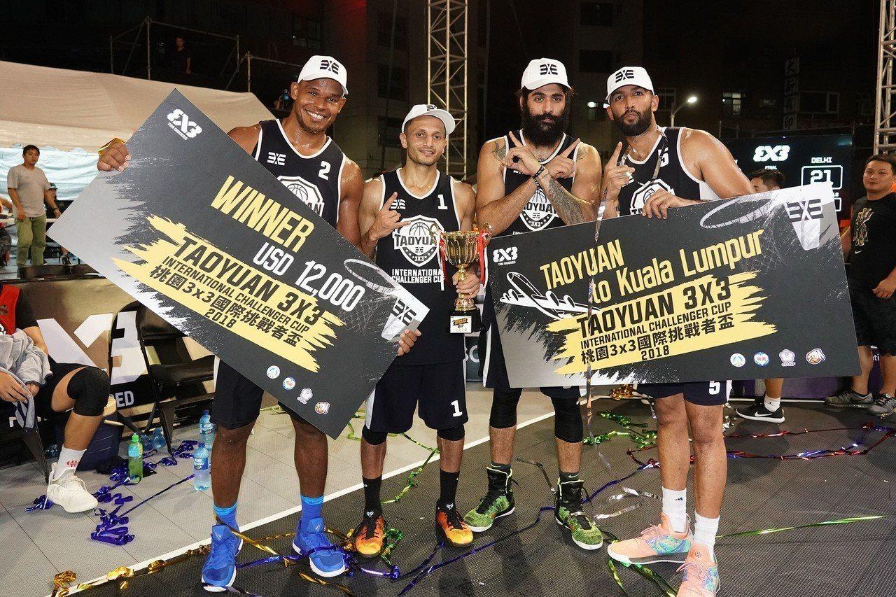 印度「德里隊」奪冠。圖/桃園市籃球委員會提供