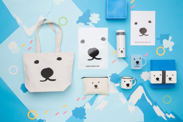 北海道円山動物園人氣白熊化身,包含牛奶杯、琺瑯杯、保溫瓶、保冷盒、A4文件夾、B...