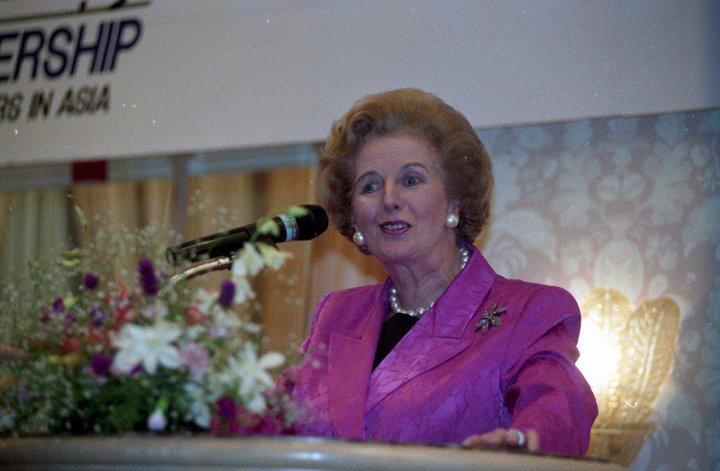 英國前首相柴契爾夫人曾來台訪問。 圖/聯合報系資料照片