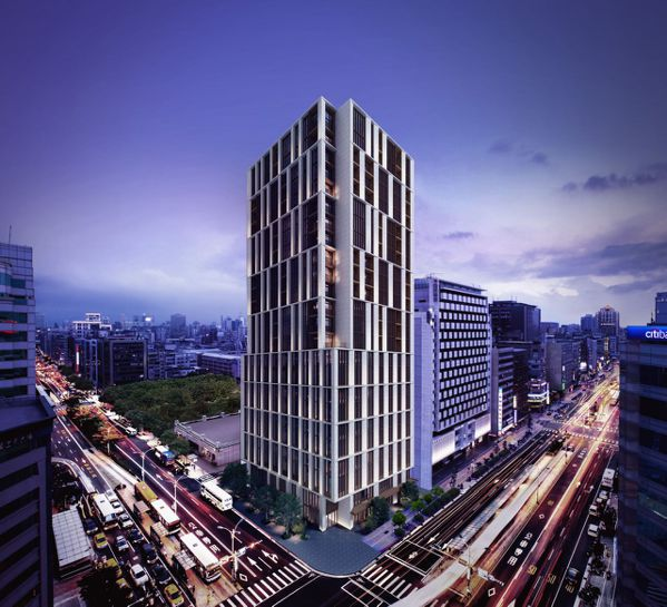 「琢豐」建築立面設計將重新定義台北市的精品建築。 圖/業者提供