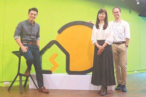 「陽光伏特家」的3名共同創辦人,左起為馮嘯儒、陳惠萍、鄧維侖。圖/陽光伏特家提供