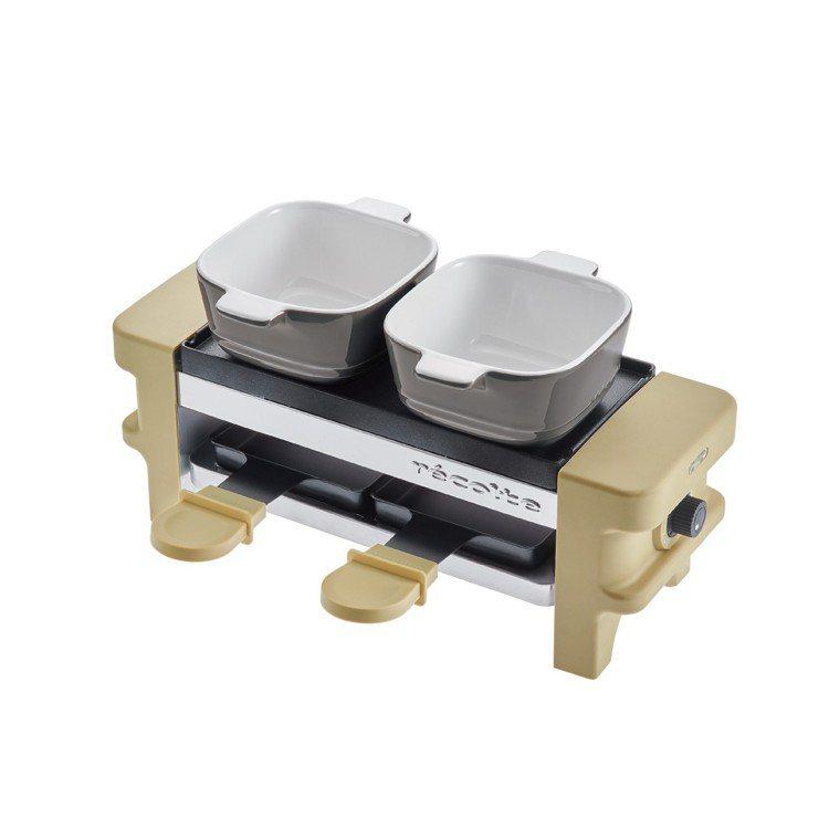 RÉCOLTE麗克特迷你煎烤盤,隨附的小烤盅還能用來製作起司鍋、巧克力鍋圖/丞閈...