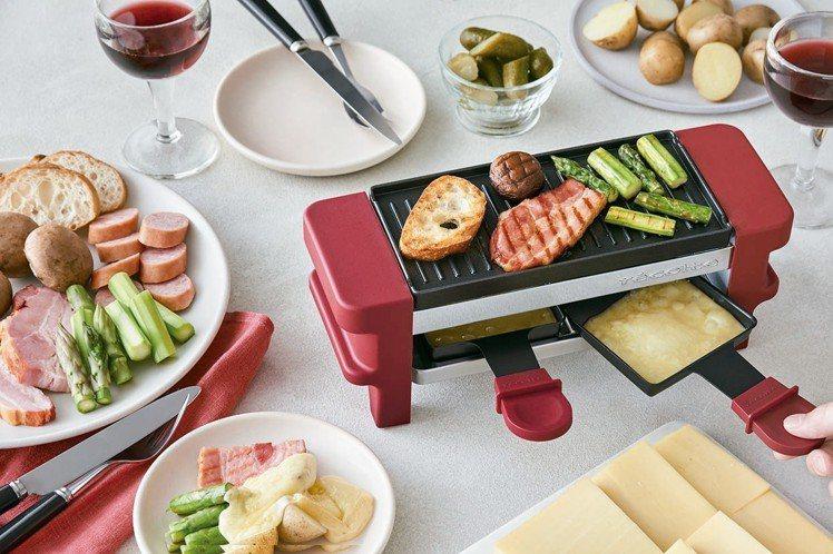 RÉCOLTE麗克特迷你煎烤盤,多功能設計一次煎烤多樣食材。圖/丞閈企業提供