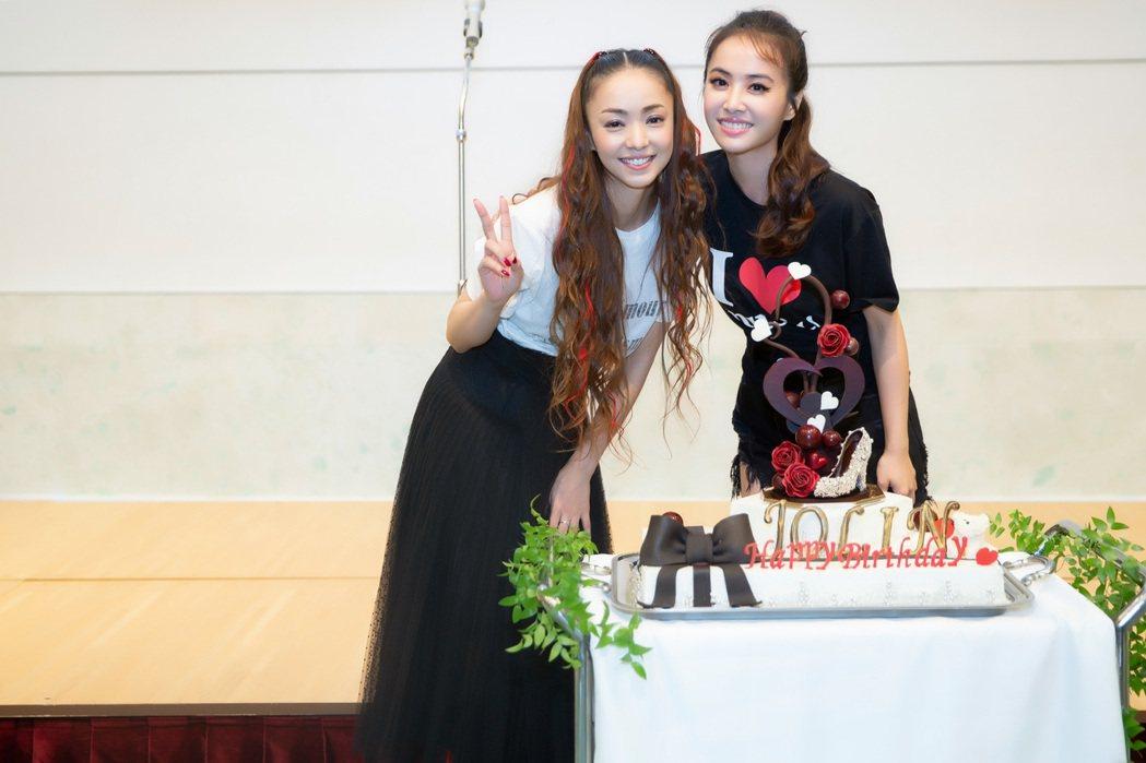 安室在慶功宴上幫蔡依林慶生。圖/NTV提供