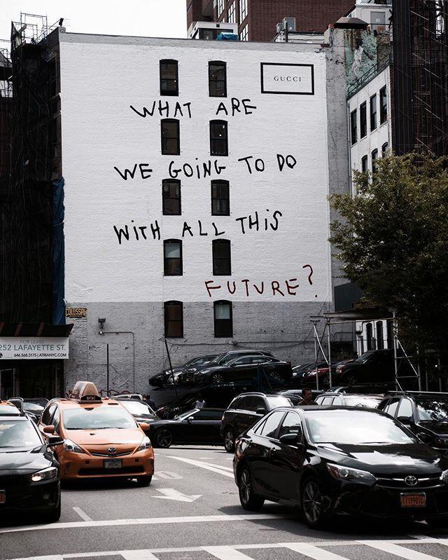 Gucci與Coco Capitán合作的藝術牆。圖/摘自Pinterest