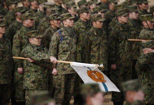 日本自衛隊近年在新兵招募遇到極大困難。 (路透)