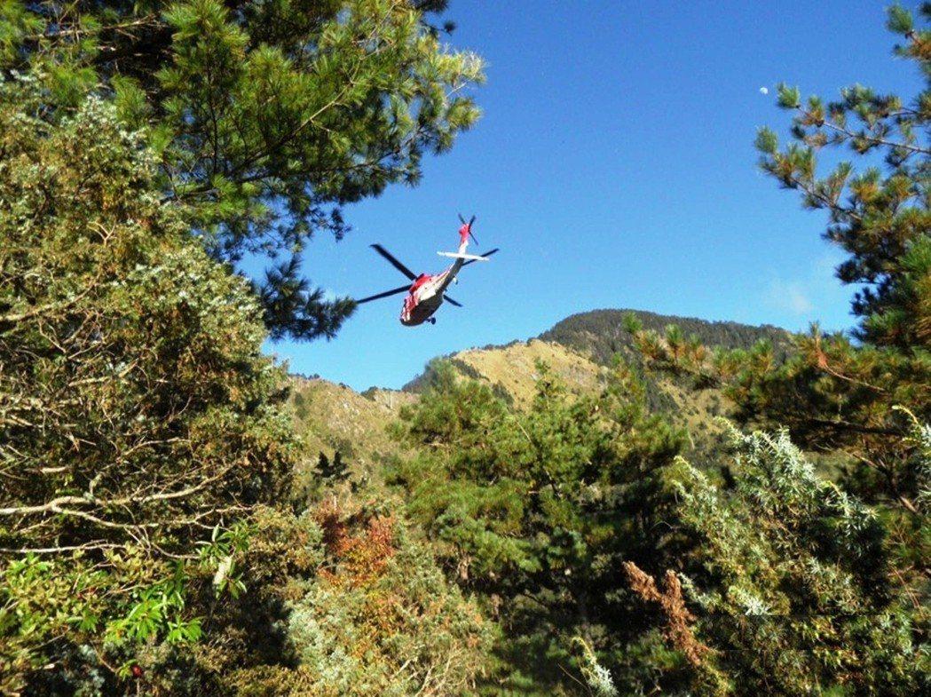 登山意外頻傳,各地空勤直升機搜救任務更加繁重。 圖/保七總隊提供