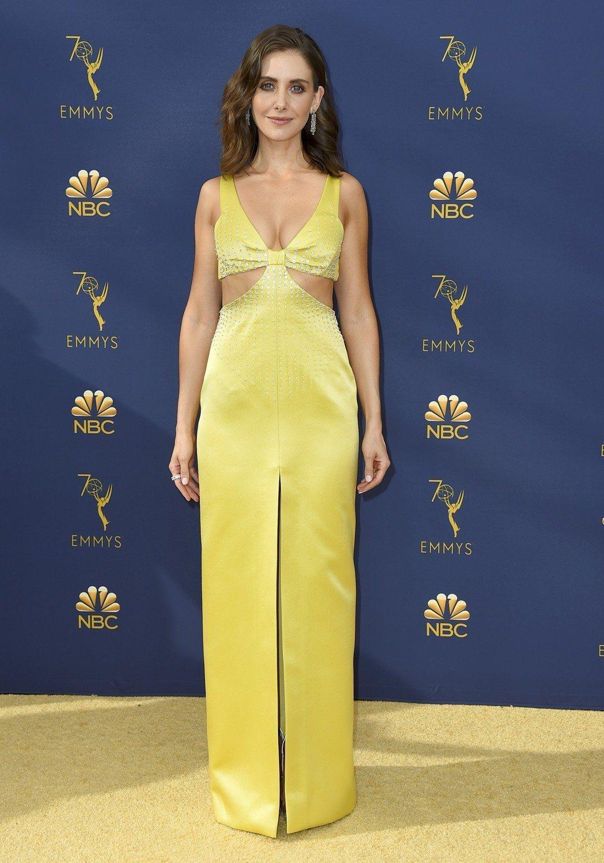 愛莉森布里出席第70屆艾美獎星光大道。 圖/美聯社