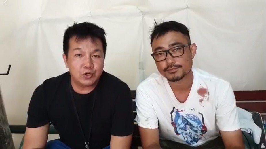 《大地回春》監製林德榮、導演黃罕銘17日晚間在臉書直播,向觀眾們致歉。圖/擷自臉