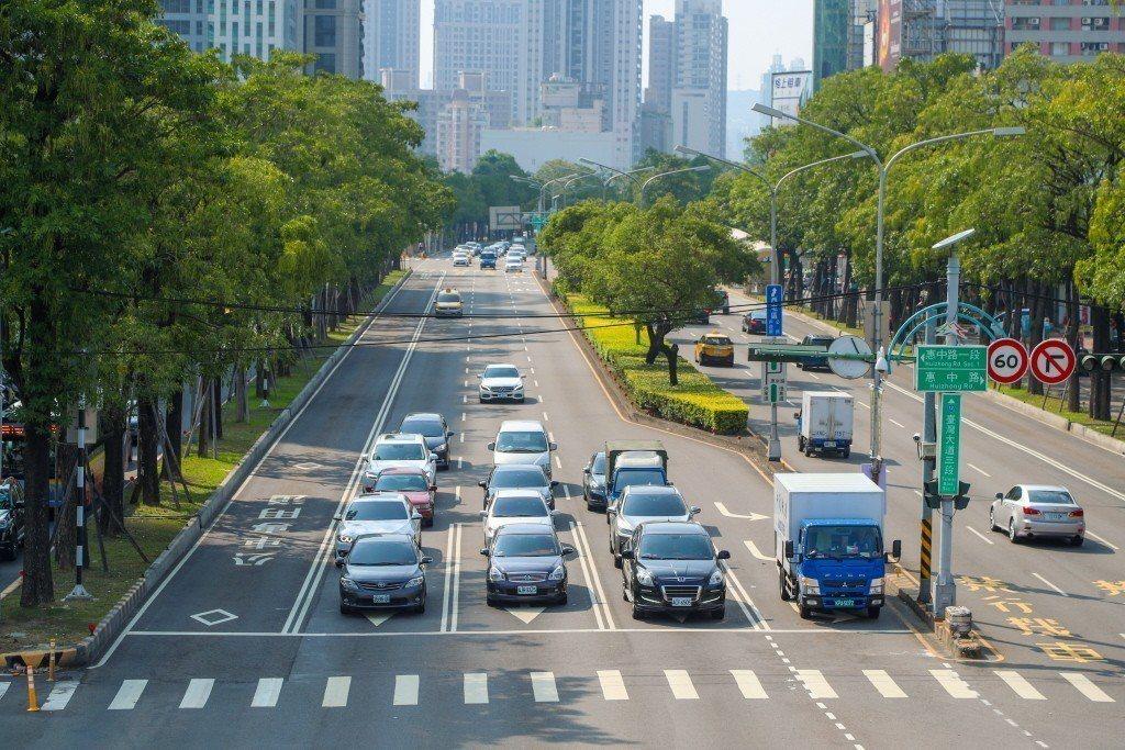 台中市臺灣大道。 圖片來源/台中市新聞局