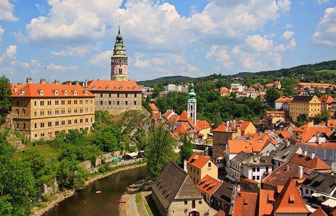 捷克 – 克姆洛夫小鎮。
