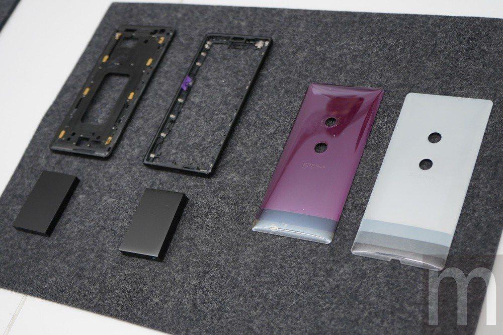 相比 Xperia XZ2 採用 設計, Xperia XZ3 採用 硬度 更高 的 AL7000 ...