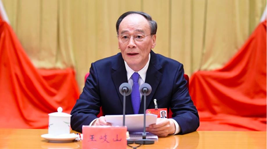 紐時稱中共國家副主席王岐山在中美貿易戰作用有限。(香港01報導照片)