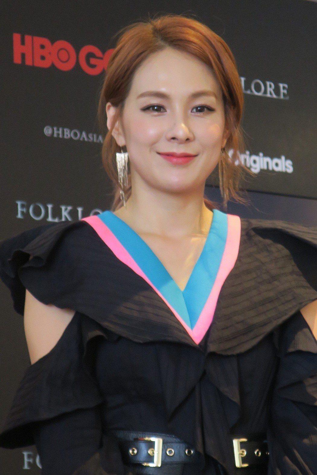 蔡妍在「亞洲怪談」首度挑戰演媽媽。記者蘇詠智/攝影