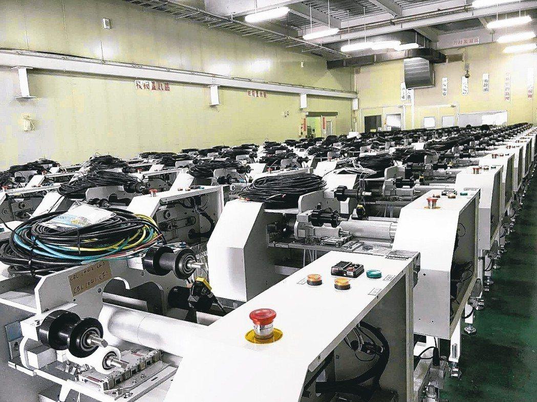 威光自動化被訂單追著跑,工廠產線忙碌。 威光/提供