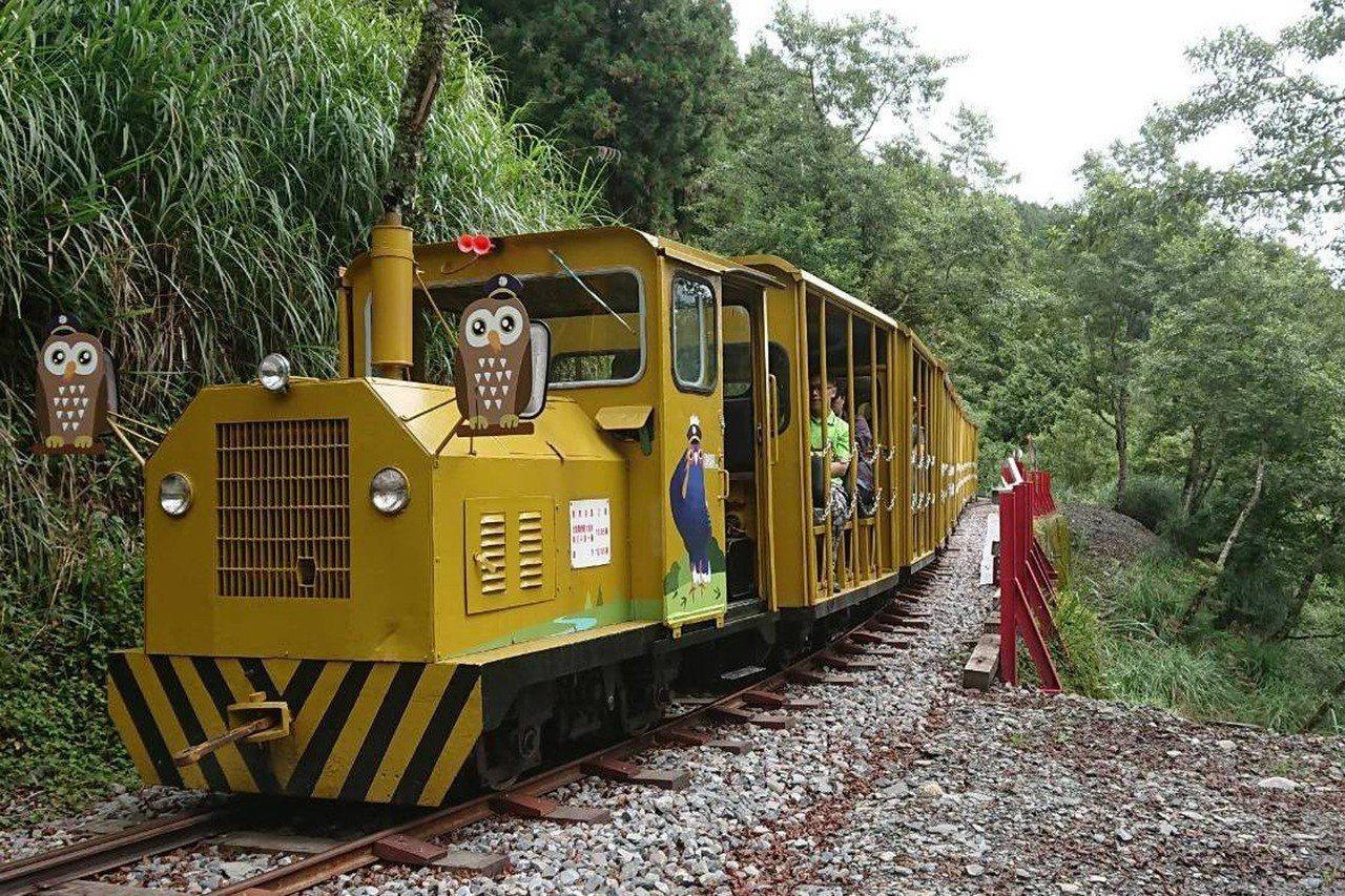 宜蘭縣太平山國家森林遊樂區的蹦蹦車。圖/羅東林管處提供