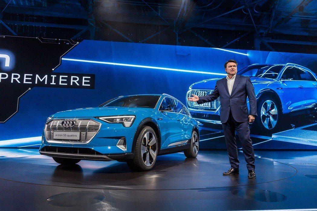 全新Audi e-tron正式發表。 摘自Audi