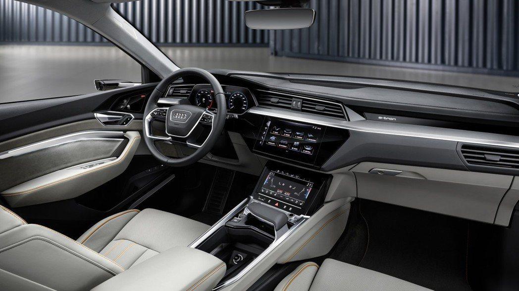 Audi E-Tron內裝充滿豪華科技氛圍。 摘自Audi