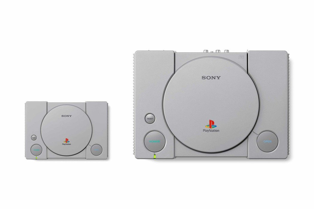 PlayStation Classic 宛如縮小版的初代PS。圖/SIET提供