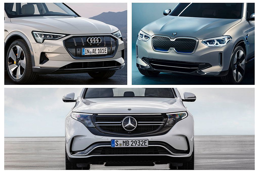 德國三大豪華車廠不再讓特斯拉一枝獨秀,近期陸續發表新世代純電動車。 圖/Audi...