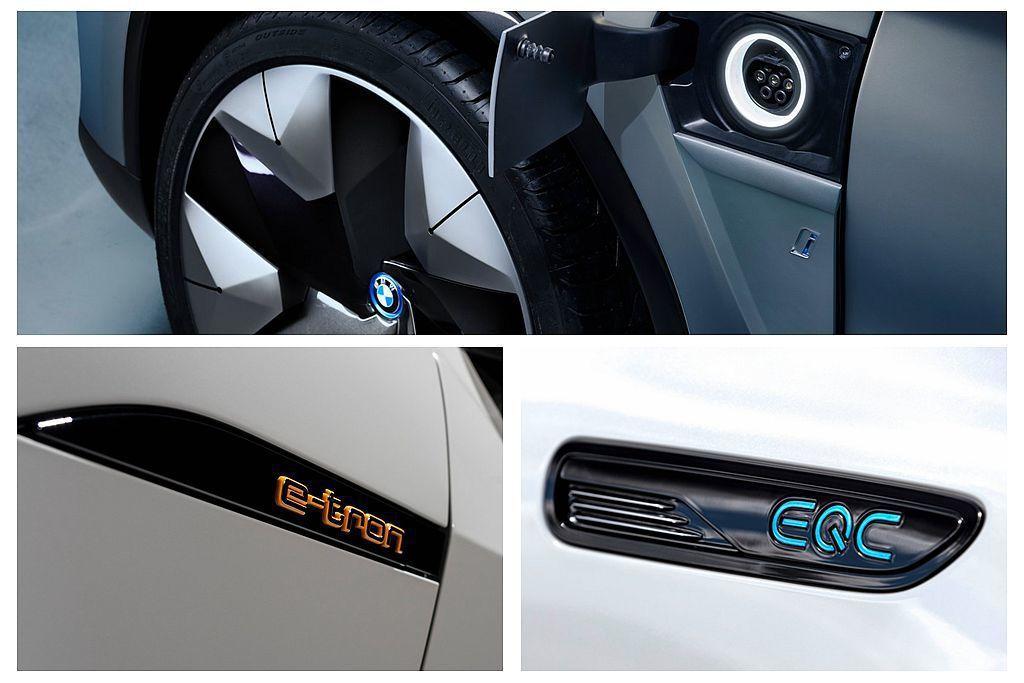 德系豪華三大廠的電動車佈局已經確認,未來將會迅速擴充各種車型。 圖/Audi、B...