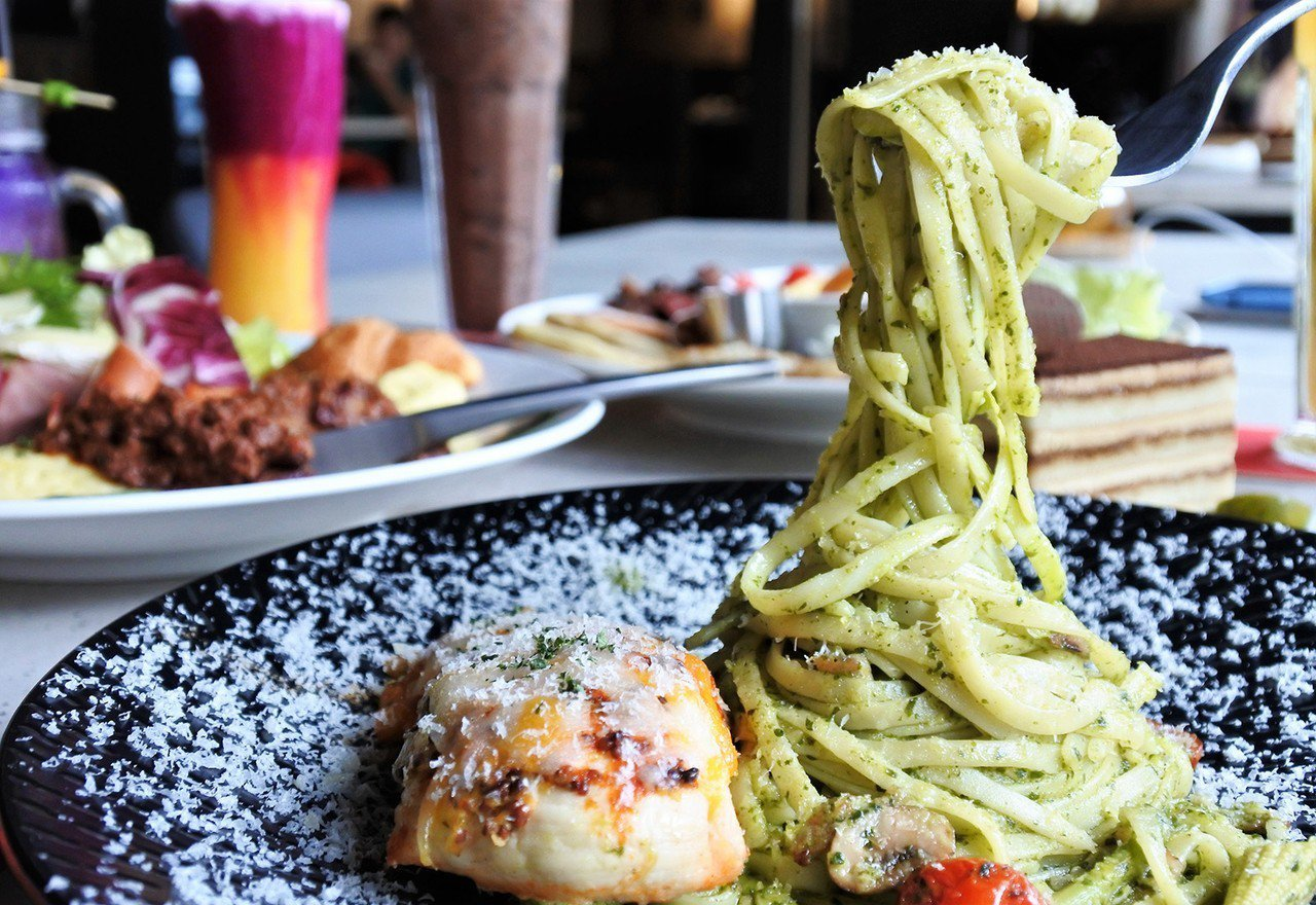 (圖/台灣旅行趣) ▲麵條是採用羅馬很受歡迎的一種pasta,直條狀,有些許厚度...