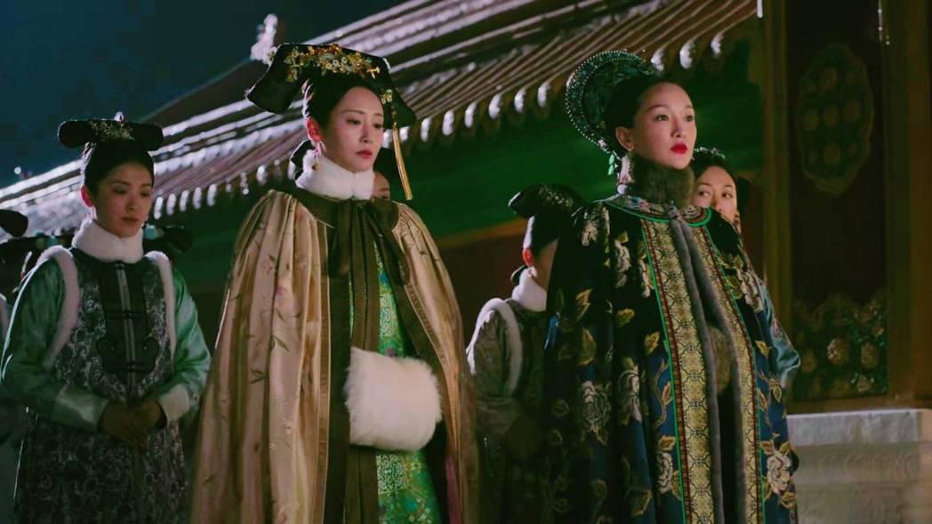 「魏嬿婉」(左)不滿「如懿」未告知自己坐胎藥有問題。圖/截圖自愛奇藝台灣站