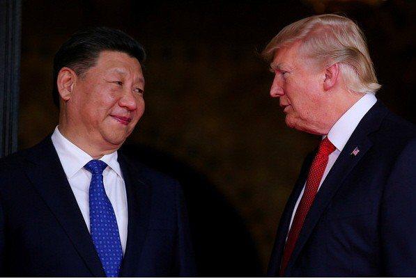 圖為中國領導人習近平與美國總統川普。路透社