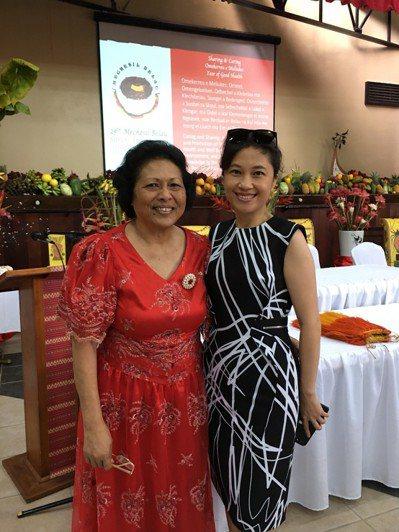 帛琉女王Bilung Gloria Salii與行政院發言人Kolas Yota...