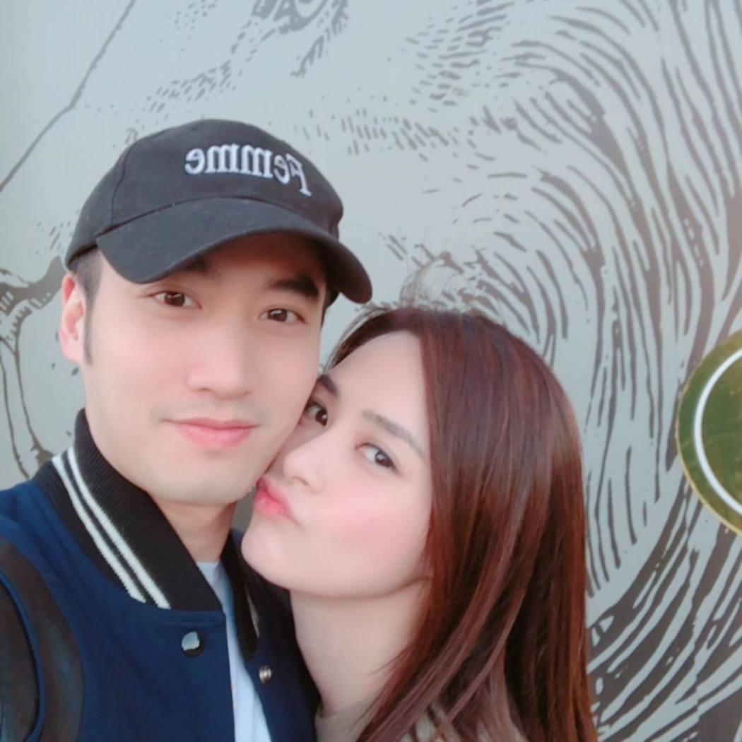 賴弘國(左)跟阿嬌短暫交往後宣布閃婚。圖/摘自IG