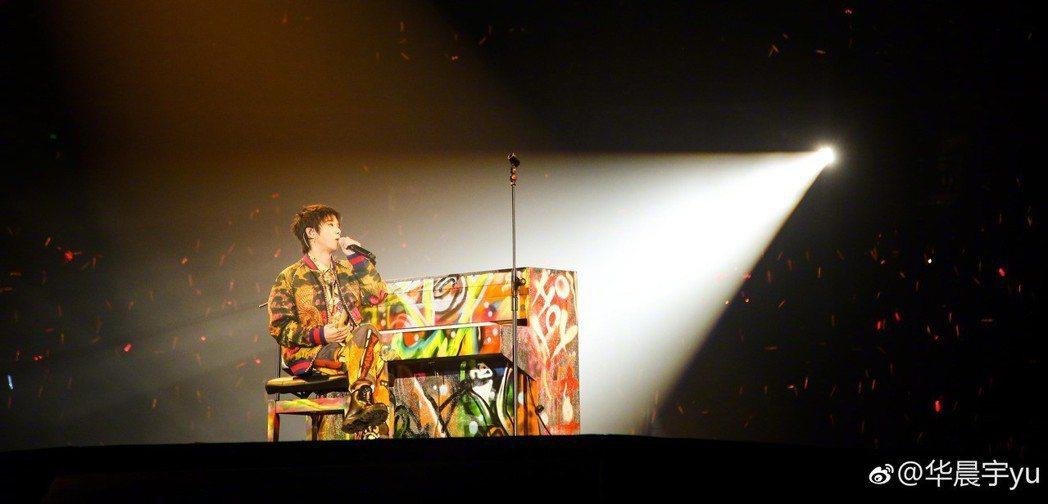 華晨宇日前剛完成2場鳥巢個人演唱會。圖/摘自微博