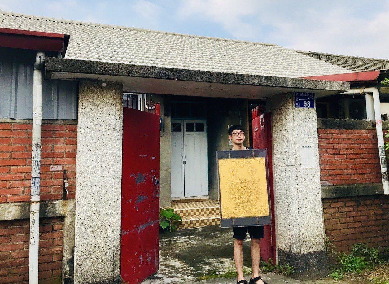 新銳藝術家詹邠申請了黃埔新村「以住代護」計畫,開始入住創作。記者徐如宜/攝影