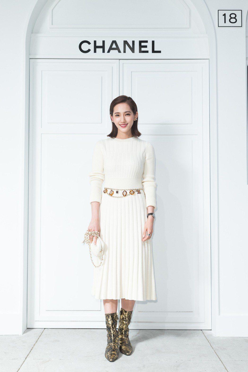 結婚生子後首度公開亮相的王棠云,最喜歡經典的菱格紋。記者陳立凱/攝影