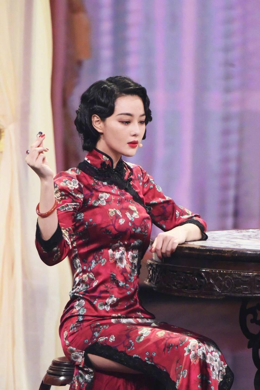 張馨予最近旗袍扮相被讚美。圖/摘自微博