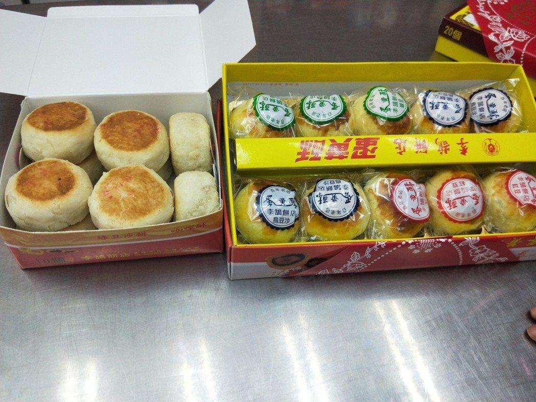 李鵠餅店的蛋黃酥、綠豆椪是人氣商品。 記者游明煌/攝影