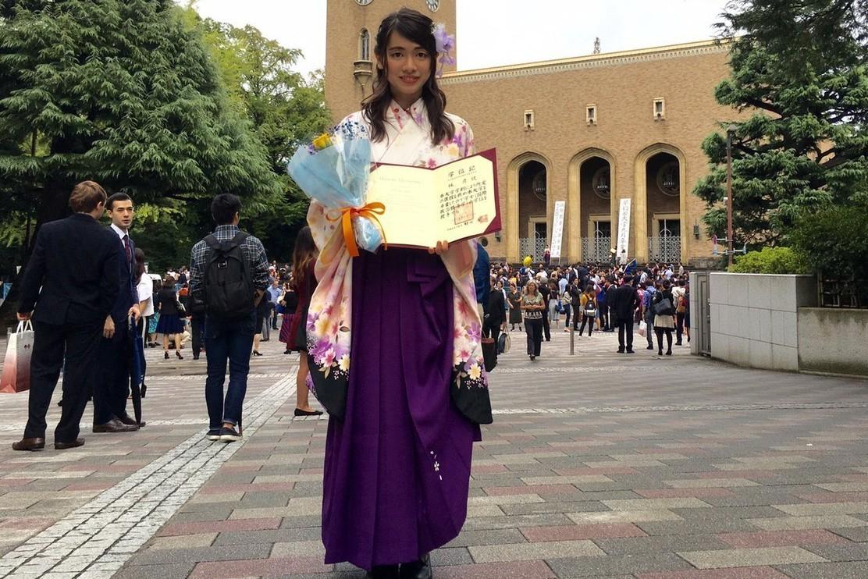 林彥欣今年自早稻田大學畢業。 吳宛縈/攝影