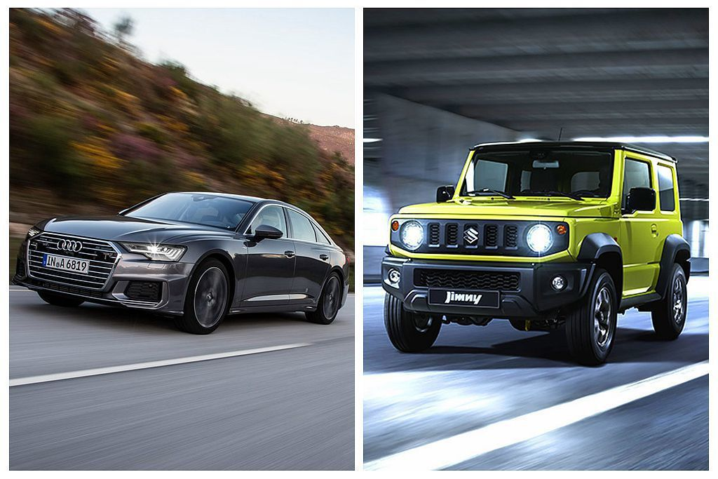 當中新世代Audi A6、Suzuki Jimny都將會導入台灣市場銷售。 圖/...