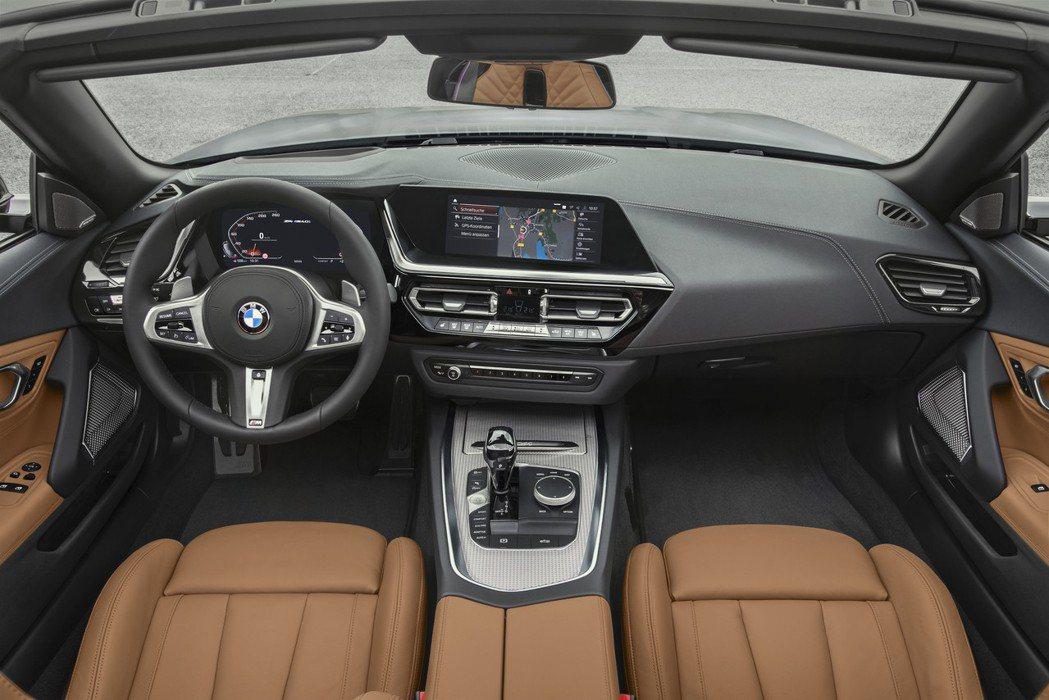 以駕駛人為導向的全新BMW Z4座艙。 摘自BMW
