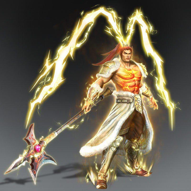 《無雙OROCHI 蛇魔 3》中神格化後的呂布。