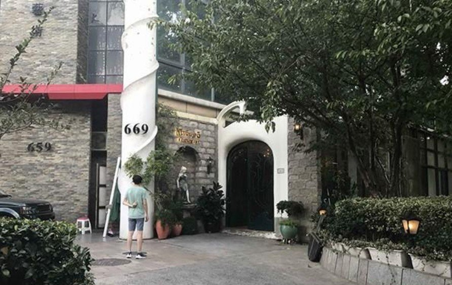 「西郊5號」餐廳外觀。 圖片來源/微博
