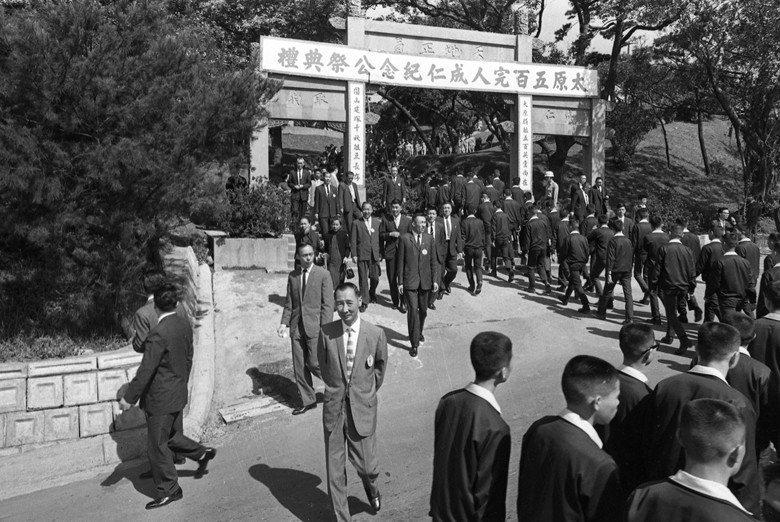 圖為1970年,前來參加太原五百完人成仁紀念日公祭的各界代表。 圖/聯合報系資料...