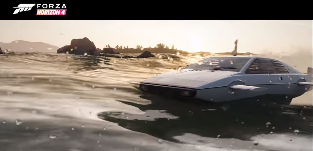 Lotus Esprit S1在電影裡變身快艇的設定。 摘自Forza Hori...