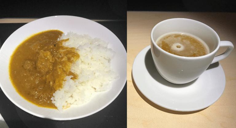 咖哩飯(左圖)與日式茅乃舍菜湯(右圖) 圖文來自於:TripPlus