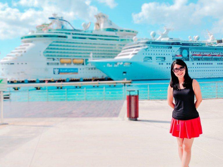 在Cozumel的港口上 (Photo Source: www.facebook...