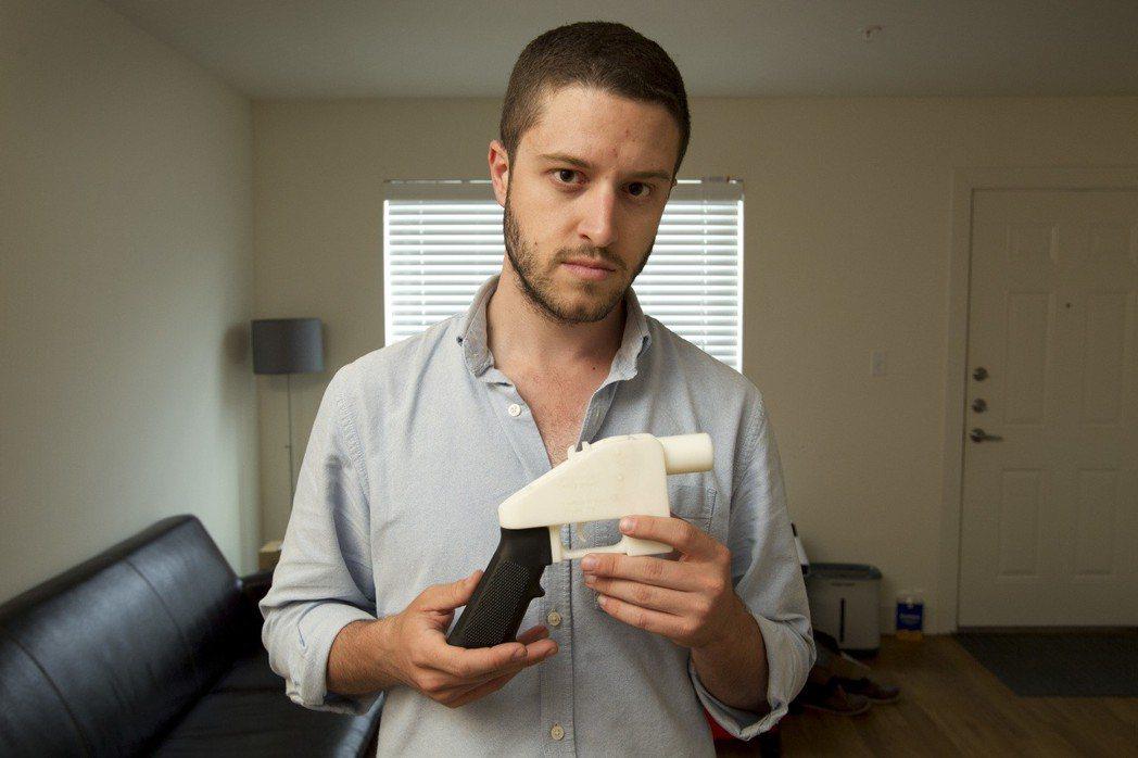 3D列印手槍發明人威爾森。美聯社