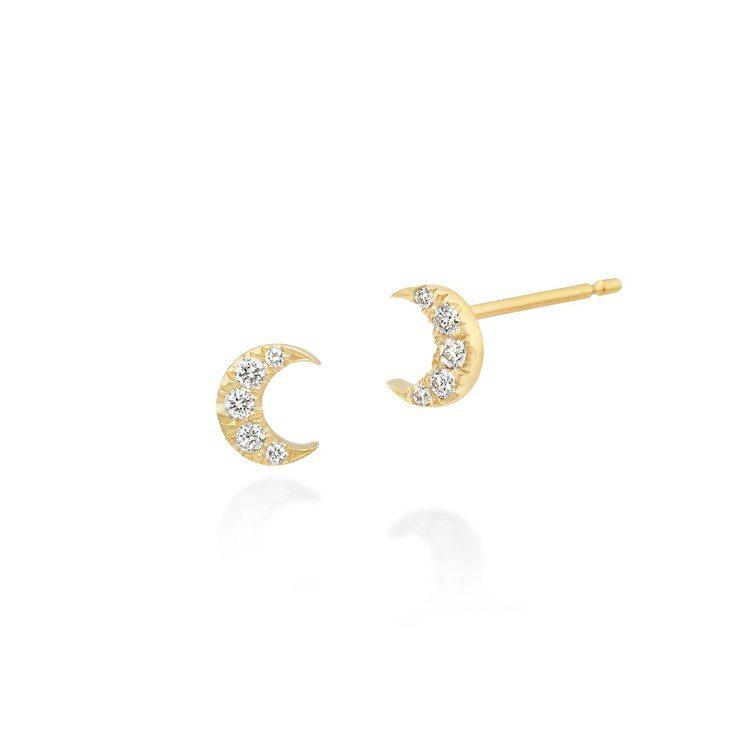 AHKAH vivian couture系列Cala月亮耳環,17,400元。圖...