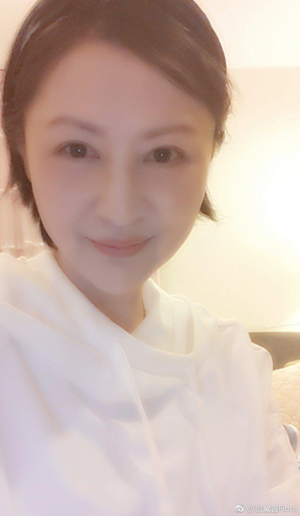 景黛音近年來喜歡發布自拍照,也被稱為美魔女。圖/摘自微博